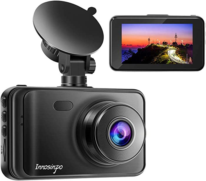 "Dash Cam【2020 New Version】 1080P FHD DVR Car Dashboard Camera Recorder 3"" LCD Screen 170° Wide Angle, Super Night Vision, G-Sensor, WDR, Parking Monitor, Loop Recording, Motion Detection"