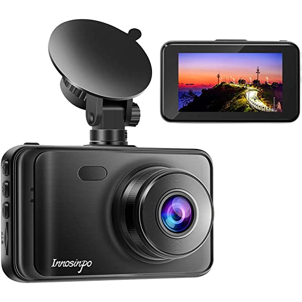 Time Lapse Motion Detection 140/° Wide Angle GSSUSA Dual Dash Cam 1080P HD 2.7 inch LCD Screen Video Recorder for Cars Super IR Night Vision Loop Recording and G-Sensor
