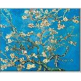 """quadri & cornici HB - Vincent Van Gogh """" Ramo di mandorlo """" quadro,stampa su legno, poster su legno, bordo nero"""