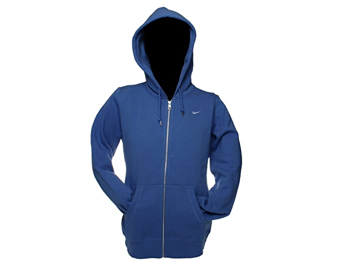 03693cc23f04 Amazon.com   NIKE Classic Fleece Full Zip Hoodie Womens Sweatshirt Small  Lake Blue   Athletic Sweatshirts   Clothing