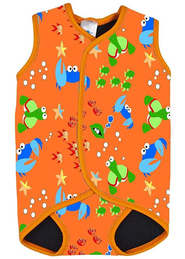 AOQUSSQOA AMAGGIGO Baby/Kleinkind Neoprenanzug Weste Design für Jungen/Mädchen 0-3 Jahre mit UPF50