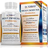 Dr. Tobias Deep Immune - Probiotic plus Ultimate Prebiotic (Patented) - Supports Only Good Bacteria & Targets the Bad, Delay Release, Shelf Stable Probiotic Supplement for men & women