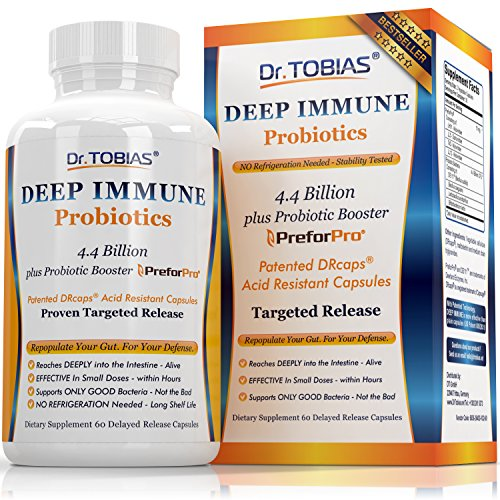 Optimum Probiotics: Deep Immune System Support - With Patented Probiotic Booster - Effective in Small Doses Within Hours - Nutritional Supplement