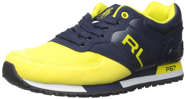 Polo Ralph Lauren Slaton RL Zapatilla de Deporte de Moda 43.5 EU Newport Navy/University Yellow