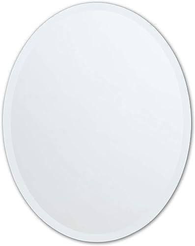 Better Bevel 24 x 36 Frameless Oval Mirror 1 Beveled Edge Copper-Free
