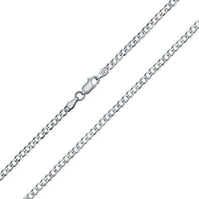 Rope 080-4MM Heavy .925 Sterling Silver Italian Link Chain