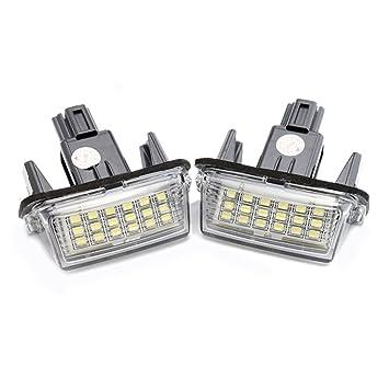 Alftek - Juego de bombillas LED para matrícula de coche, 2 unidades, 18 unidades: Amazon.es: Coche y moto