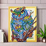 DIY 5D Owl Special Shaped Diamond Painting,Jchen(TM) Home Decor DIY 5D Partial Drill Cross Stitch Kits Crystal Rhinestone of Picture Serial Diamond Embroidery Arts Craft