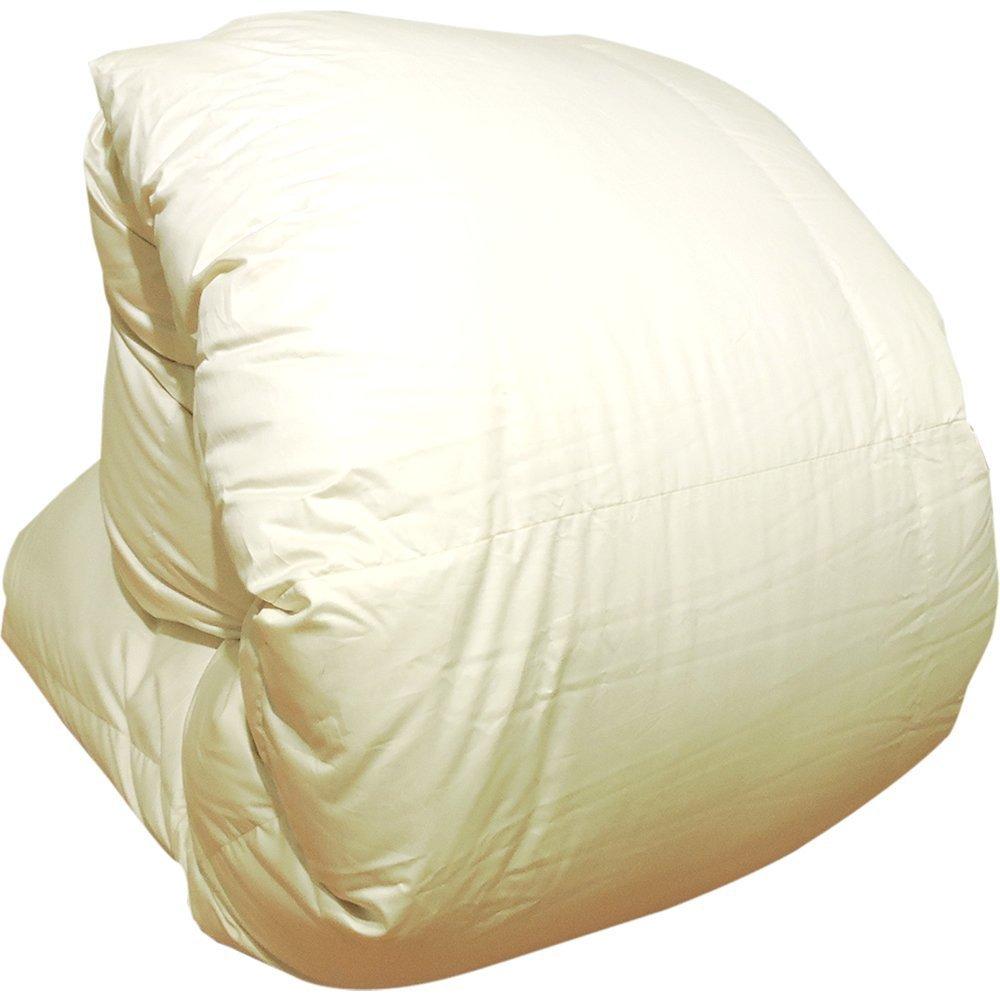 眠り姫 日本製 羽毛布団 ハンガリー産ホワイトマザーグースダウン 93% シングルスーパーロング 長身用 シャルレーヌ アイボリー 150×230cm 60サテン 超長綿 二層立体 400dp かさ高165mm以上 B076NQN31Bアイボリー シングルスーパーロング