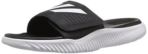 35361e159 adidas Men's Alphabounce Basketball Slides Athletic Shoe, Footwear White/Core  Black/Footwear White