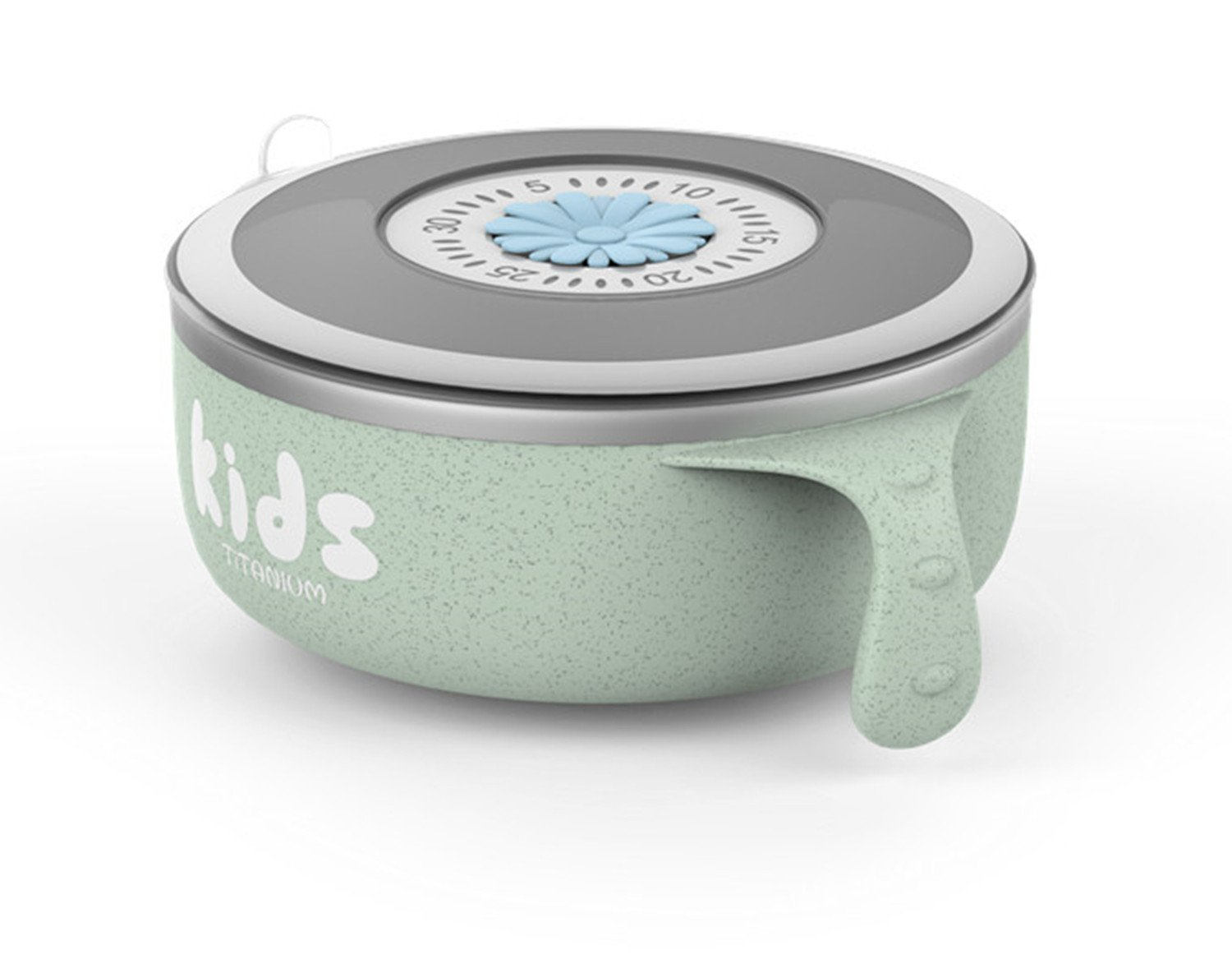 TiLiving Titanium Kids Bowls Made of titanium and Wheat straw more Health and Safety (green)