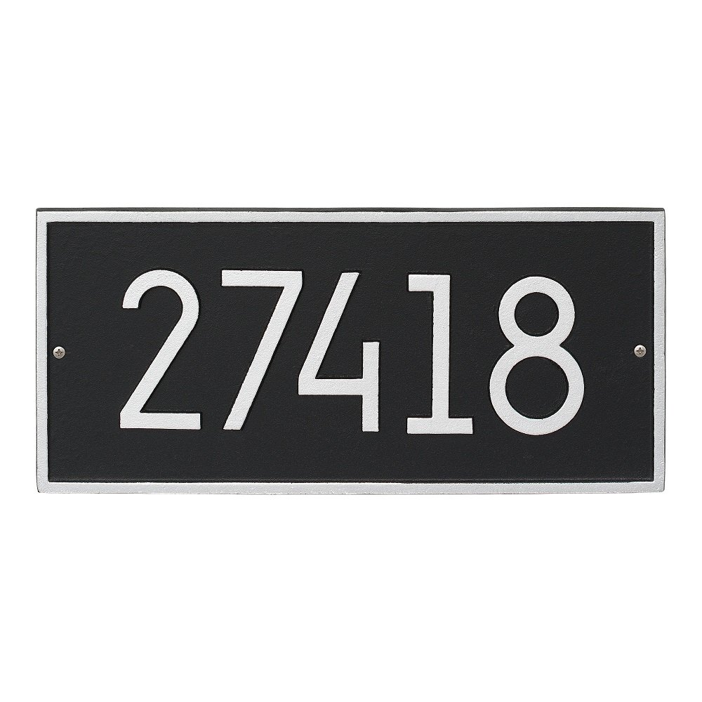 Whitehall Custom Hartford Rectangle Modern Address Plaque 16.25'' H x 7.5'' W (1 Line) by Whitehall (Image #1)