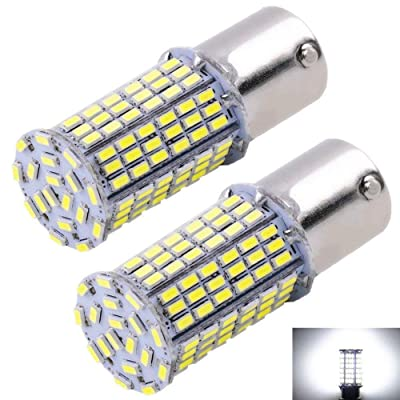 CARGO LED Extremely Super Bright 1156 1141 1003 1073 BA15S 7506 LED 144 SMD 3014 Replacement Light Bulbs 1400 Lumens,Used for Backup Reverse Lights 6000K Xenon White 12v-24v (Pack of 2): Automotive