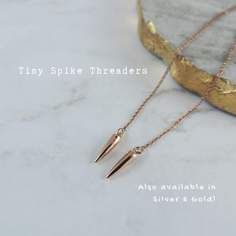 Minimalist Earrings Pull Through Earring Point Thread Earring Gemstone Spike Threader Earrings Turquoise Threaders