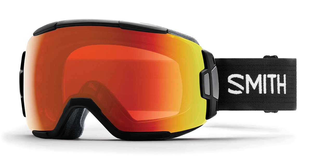 Smith Optics Adult Vice Snow Goggles Black Frame/ChromaPop Everyday Red Mirror by Smith Optics