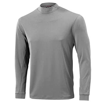 2015 Mizuno Yomo Thermal Mock Winter Golf Base Layer Longsleeve Shirt Light  Grey Small c3632702a958