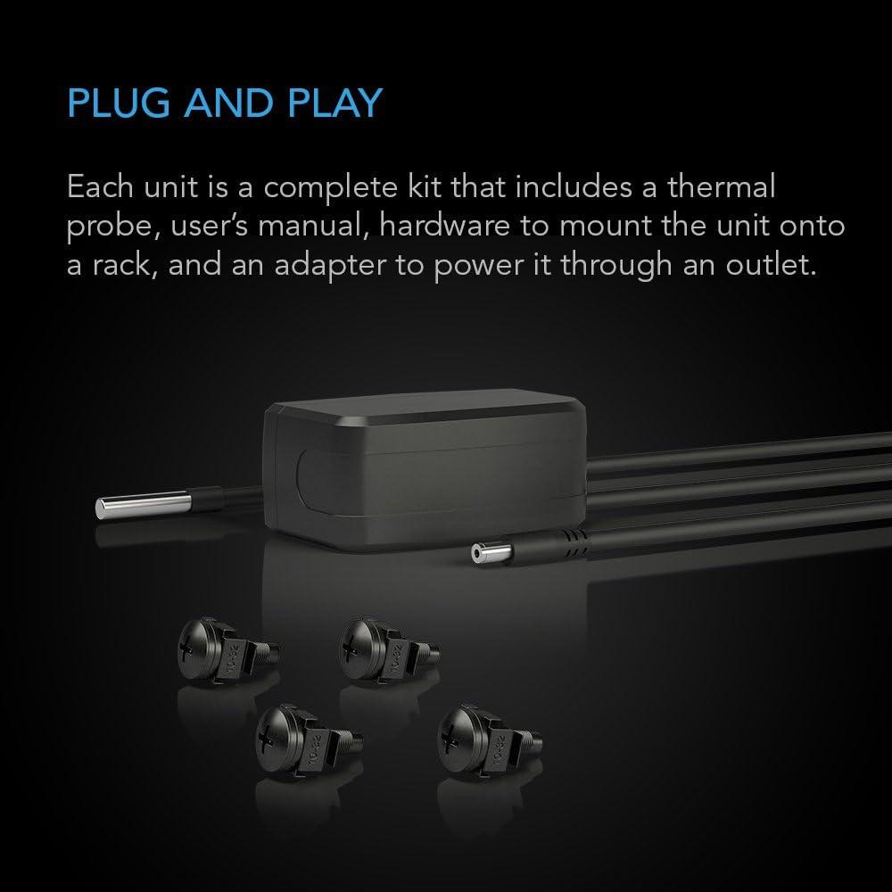 "Exhaust Airflow AC Infinity CLOUDPLATE T9 for cooling AV Network 19/"" Racks Home Theater Rack Mount Fan Panel 3U"