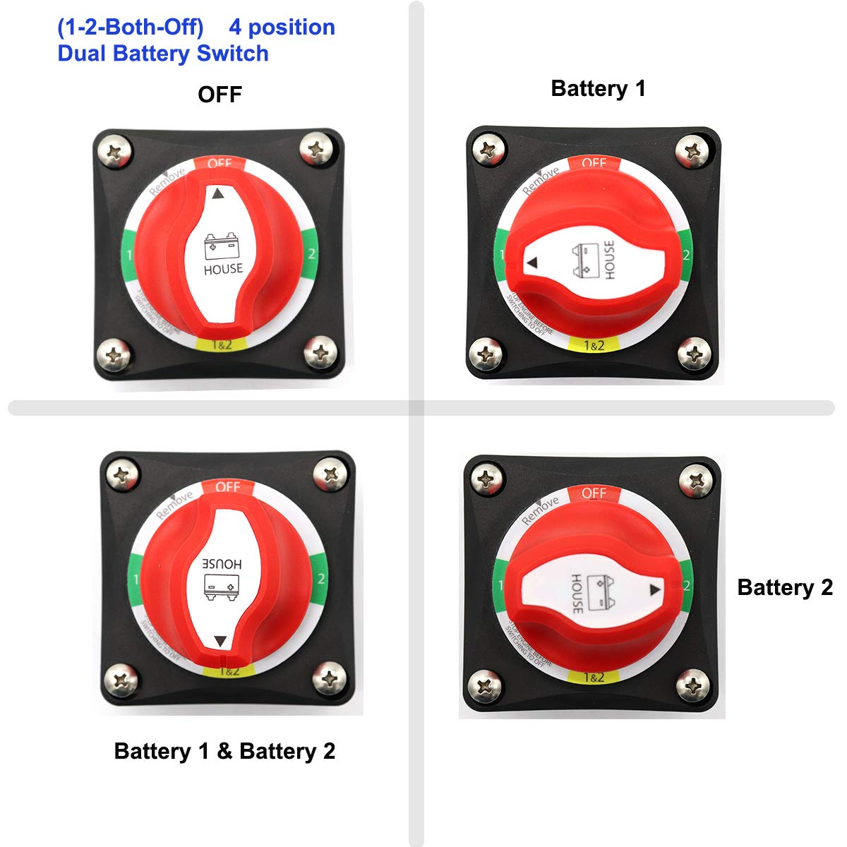 Zookoto Battery Main Switchbattery Switch Selector Wiring Diagram Alternator Field Disconnect Circuit Afdalternator Sports Outdoors