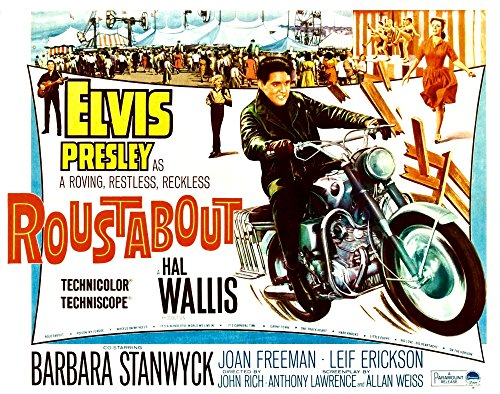 Roustabout Elvis Presley (On Motorcycle); Barbara Stanwyck (Background Center Yellow Shirt); Joan Freeman (Woman Upper Right Red Dress) 1964. Movie Poster Masterprint (14 x 11)