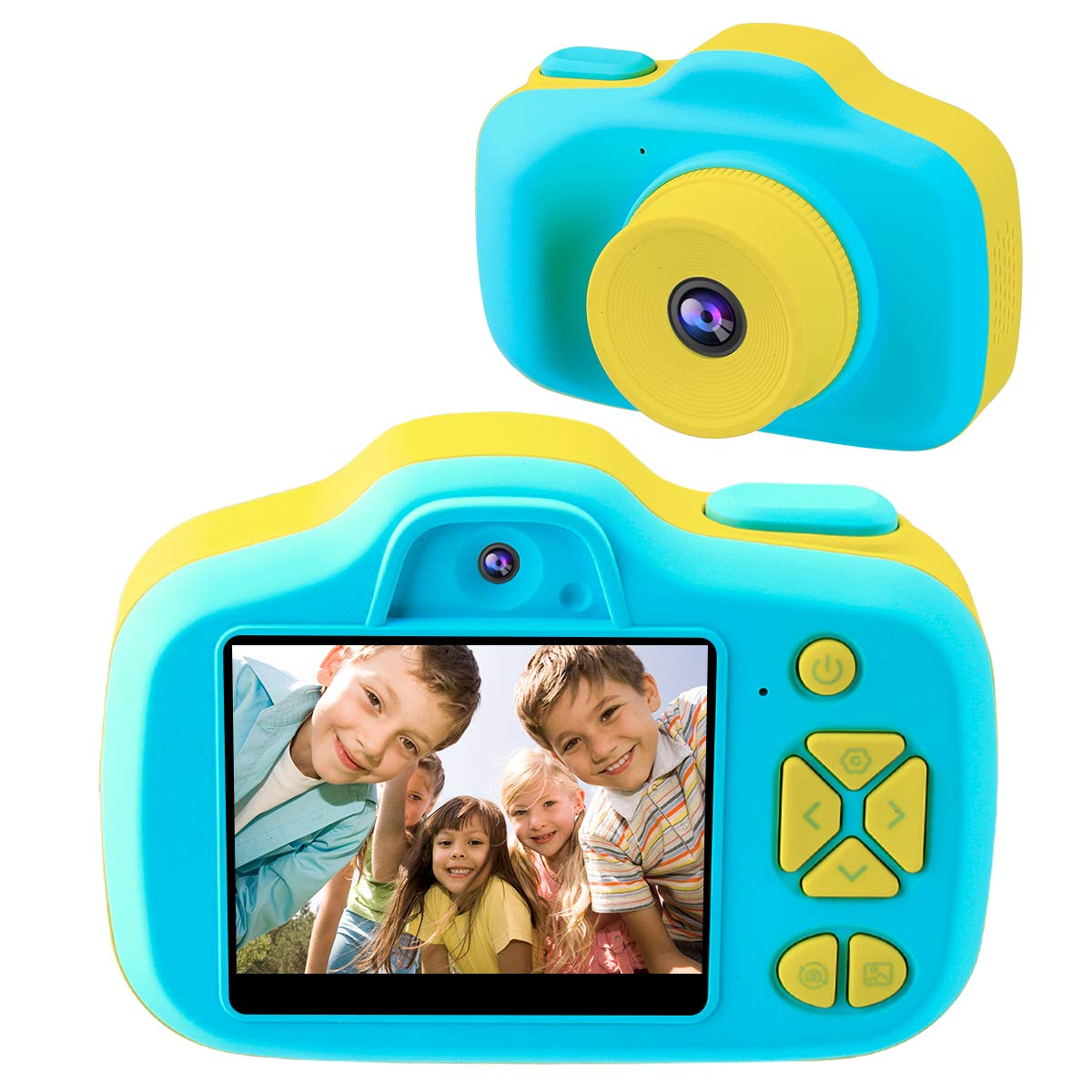 Joytrip Kids Camera Gifts,Front and Rear Selfie Children Camcorder,2.3 Inches Screen,for Boys,Blue
