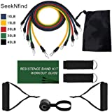 Home Workout Resistance Bands Set Yoga Exercise Fitness Band Rubber Loop Tube Bands Gym Door Anchor Ankle Straps with Bag Elastic Band,as Pictures as Shows
