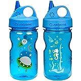 Nalgene Grip-N-Gulp Children's Water Bottles 12oz - 2 Bottle Combo Pack - 3 Inches in Diameter by 7.75 Inches Tall
