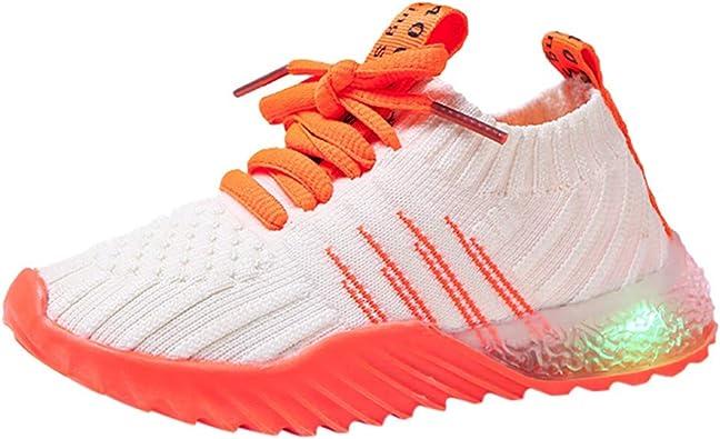 Zapatilla de Deporte Zapatos Deportivos Otoñales Luces LED Zapatillas Bebe NiñA Primeros Pasos Calzado Infantil Zapatos para Bebe Bautizo Zapato de Malla Antideslizante Zapatos Fiesta Bebe Flexibles: Amazon.es: Zapatos y complementos