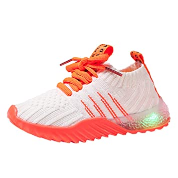ON LED Light Up Shoes Kids Girls Boys Low Top Walking Running Sneakers