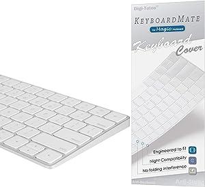 Digi-Tatoo Magic Keyboard Cover Protector Skin for Apple iMac Magic Keyboard (Model: MLA22LL/A A1644, Bluetooth, Wireless), US Layout, Premium Ultra Thin 0.18mm, High Transparency, Clear TPU Cover