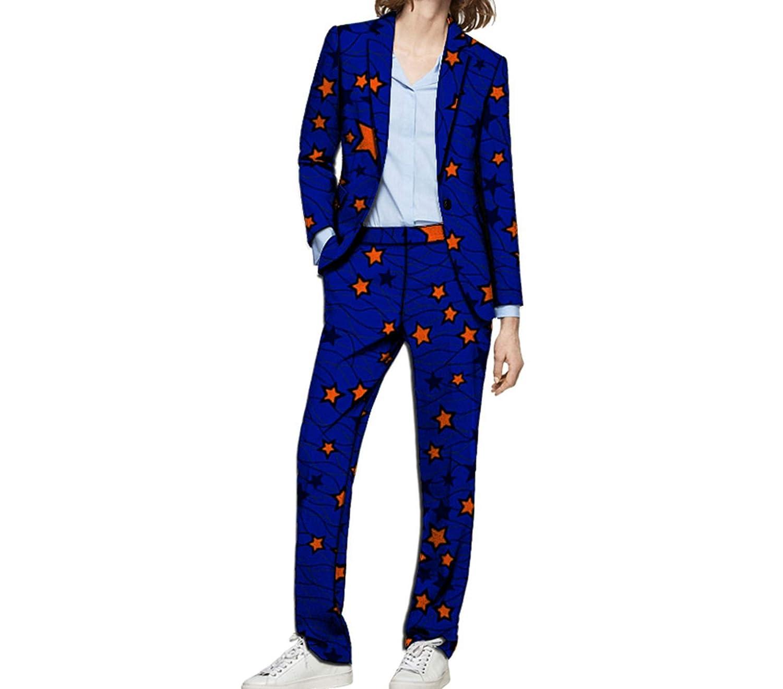 5 Kongsta Fashion Print Women Blazers with Trousers Set Clothing Ladies Pant Suits Wedding Suits Plus Size