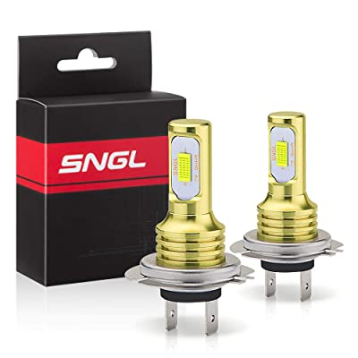 SNGL H7 LED Fog Light Bulb 6000k Xenon White Extremely Bright High Power H7LL H7 LED Bulbs for DRL or Fog Light Lamp Replacement: Automotive [5Bkhe1004972]
