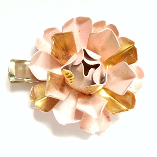 Amazon pink metal flower hair clip handmade pink metal flower hair clip mightylinksfo