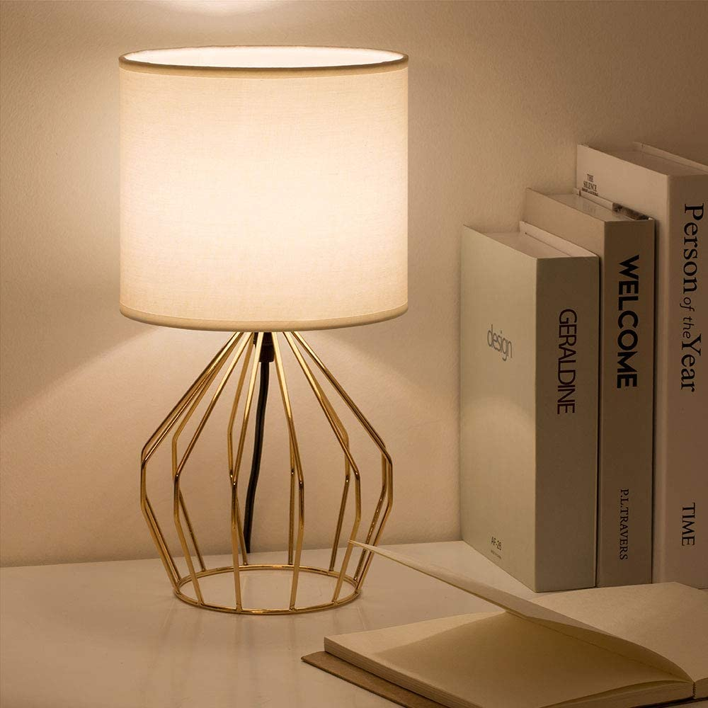 HAITRAL Gold Table Lamp