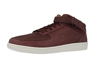 50925d0428c99 LACOSTE-turbo-homme-marron-chaussures top high sneaker en matelas grande  taille