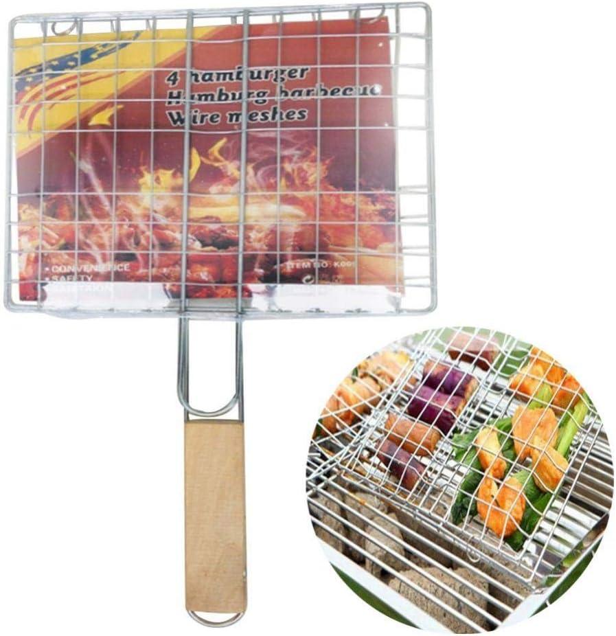 BESTEU Outils de barbecue à mailles pour barbecue grillés Outils de barbecue avec barbecue Silver