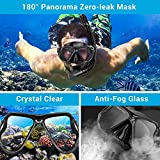 Dry Snorkel Mask Set Snorkeling Gear – Foldable