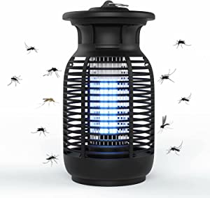 Bug Zapper, 4200V Electric Mosquito Killer for Indoor and Outdoor, Waterproof Insect Fly Pest Attractant Trap with 15W Mosquito Bulb for Home/Office/Backyard/Patio…