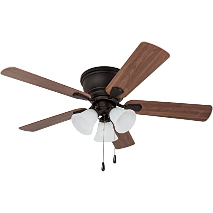 bd440ae00b7 Prominence Home 80033-01 Saddle Ridge Low-Profile Hugger Ceiling Fan with  LED 3