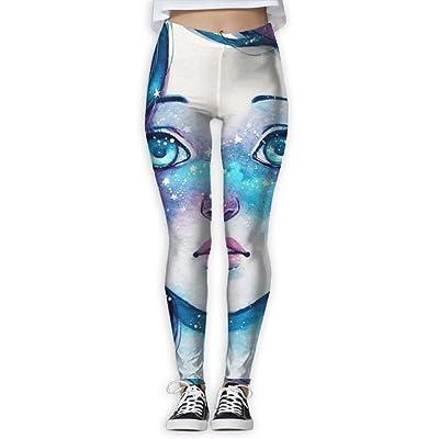 QQWSANIF Women's GirlsAnkle Length Yoga Pants Tummy Control Workout Leggings