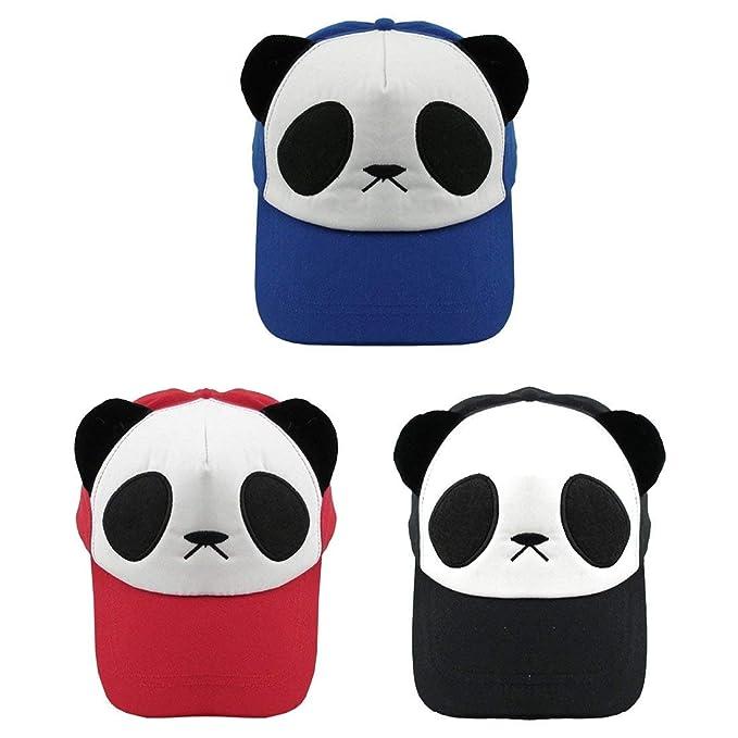 Cotton Panda Cotton Cute Panda Gorras Sombrero De Ocasional Béisbol Ojos  Grandes Cute Panda Gorra De Béisbol con 3 Piezas para Niños Y Adultos  (Color   3 ... bfa63173a6e