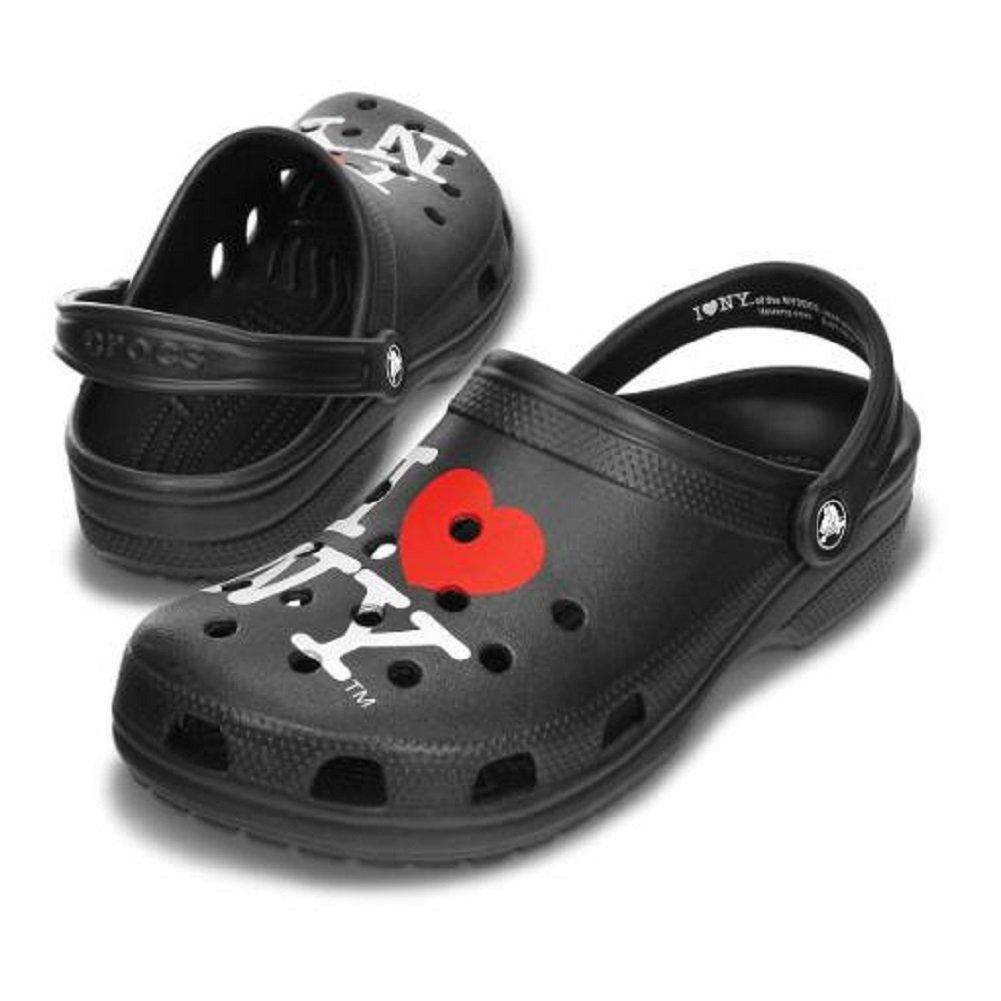 Crocs I Love NY New York Clogs Shoes Roomy Fit (2-3)