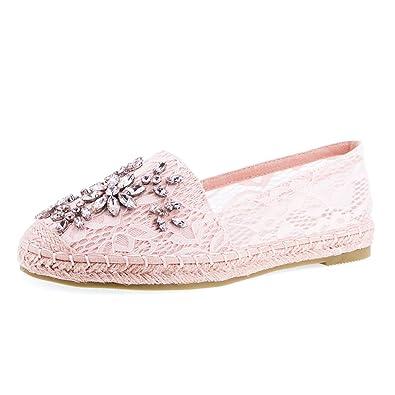 03a234b6646444 Stylische Espadrilles in Angesagten Pastell Farben mit Strass Steinen  Blogger Style Pink 36