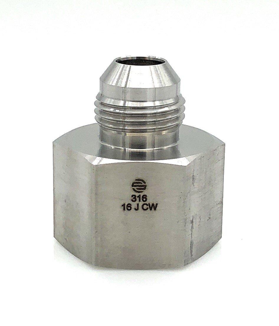 Hydraulic Adapter Fitting Female JIC X Male JIC SAI Adapter 2406-10-08-SS