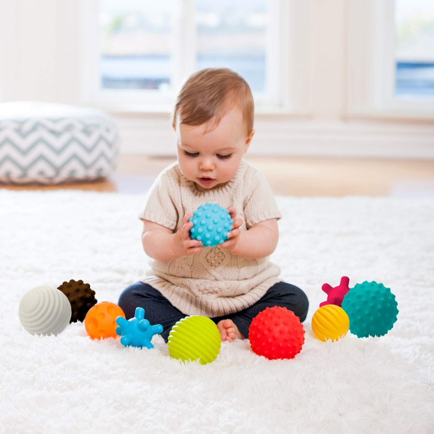 Infantino Go GaGa Textured Ball 10-Piece Set