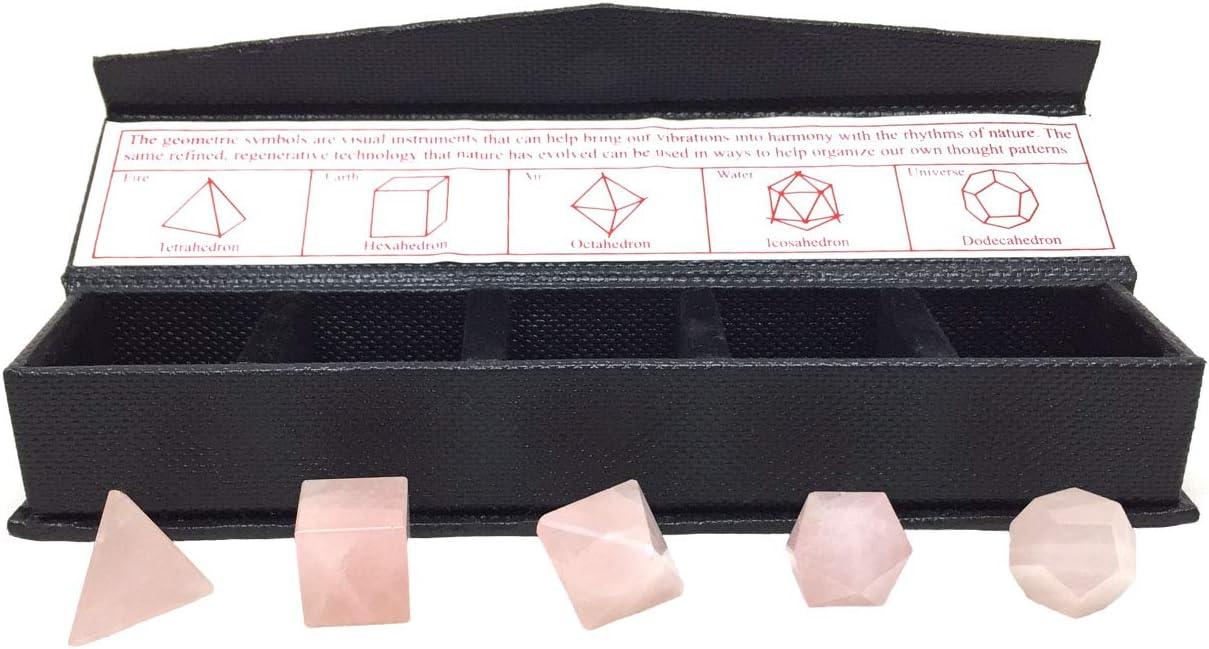15-20 mm Details about  /Amethyst 7 Pcs Platonic Sacred Stones Geometry Set Size