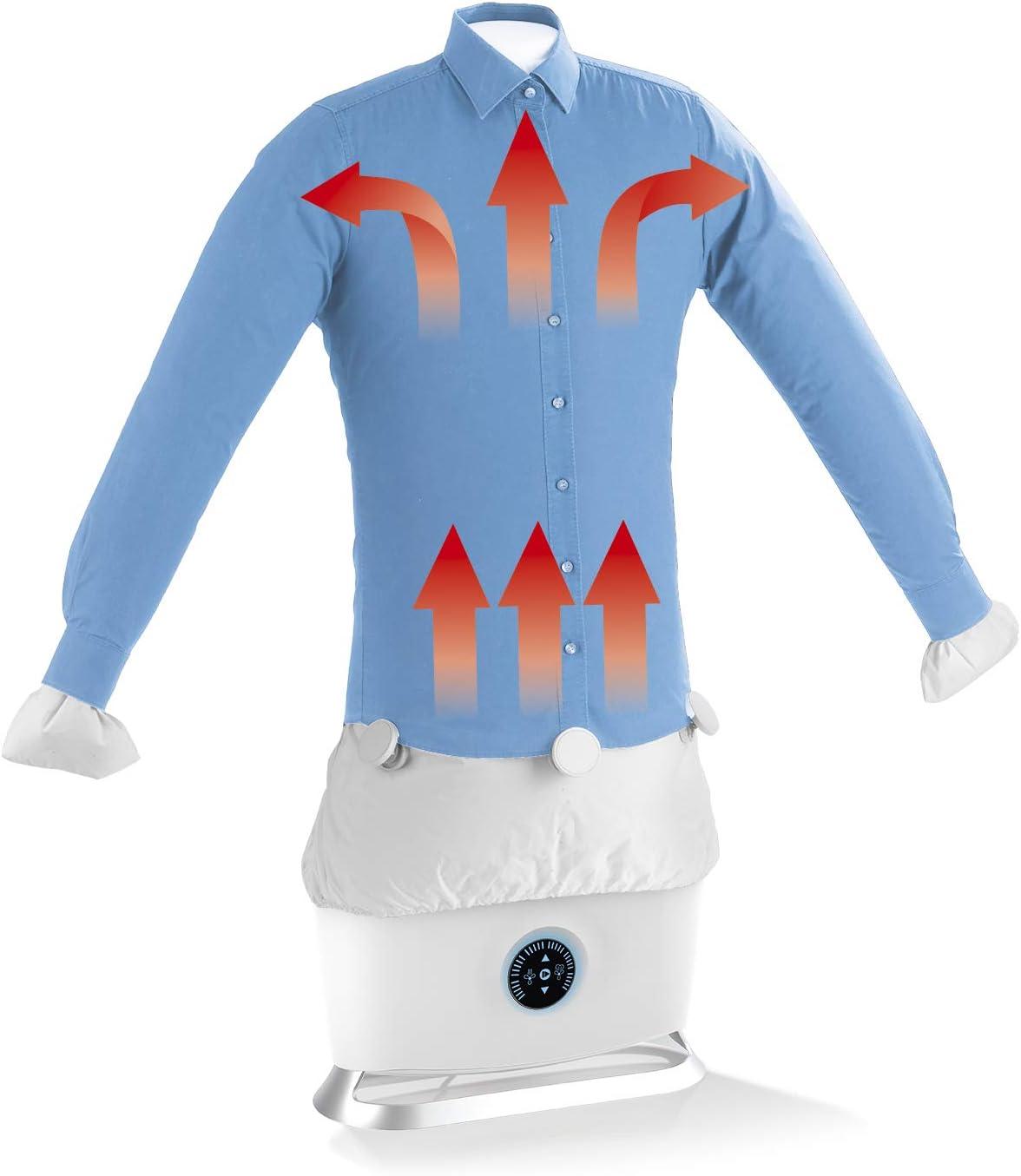 CLEANmaxx Planchadora automática de Camisas con función de Vapor | Máquina de Planchar Camisas y Blusas Totalmente automática con 2 programas de Planchado