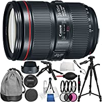 Canon EF 24-105mm f/4L IS II USM Lens 5PC Accessory Bundle - Includes 3 Piece Filter Kit (UV, CPL, FLD) + Lens Cleaning Pen + Lens Cap Keeper + Starter Kit & Microfiber Cleaning Cloth