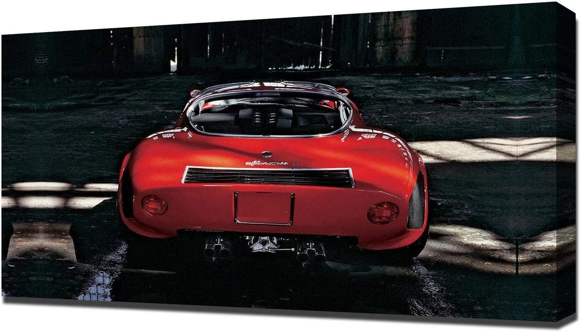 Lilarama USA 1968 Alfa Romeo Tipo 33 Stradale V2 - Canvas Art Print - Wall Art - Canvas Wrap