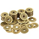 #10: Hestya 100 Pieces 1 Inch Chinese Fortune Coins Feng Shui I-ching Coins Chinese Good Luck Coins Ancient Chinese Dynasty Time Coin