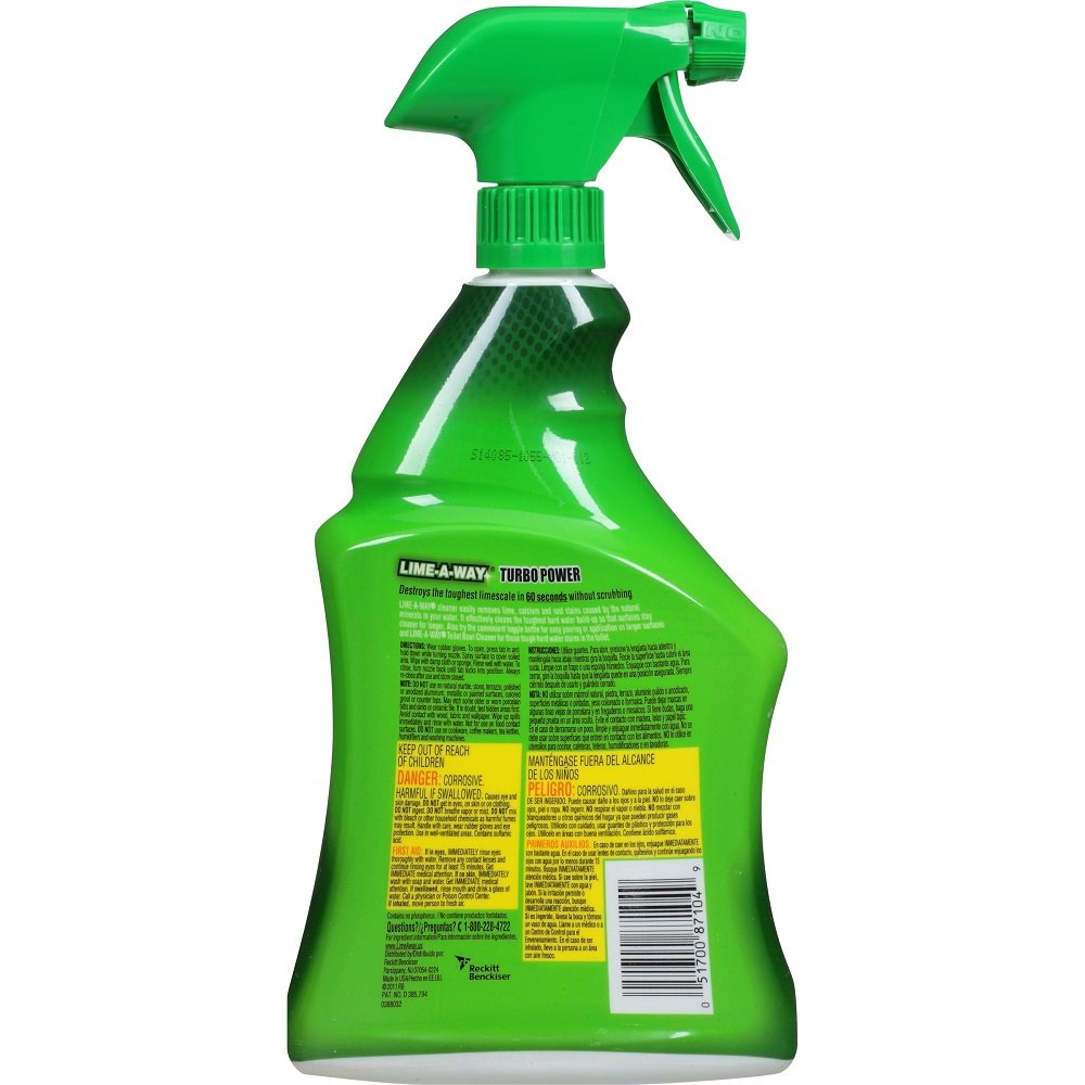 Amazon.com: Lime-A-Way Bathroom Cleaner, 32 fl oz Bottle, Removes Lime Calcium Rust (2): Home & Kitchen